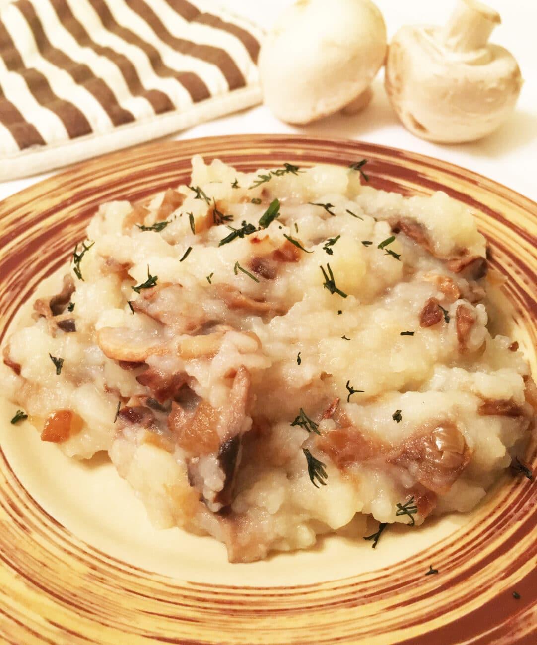 Картошка-пюре с грибами