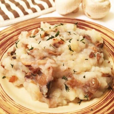 Картошка-пюре с грибами - рецепт с фото
