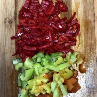 Фото рецепта - Соте из баклажанов, перца и томатов - шаг 5