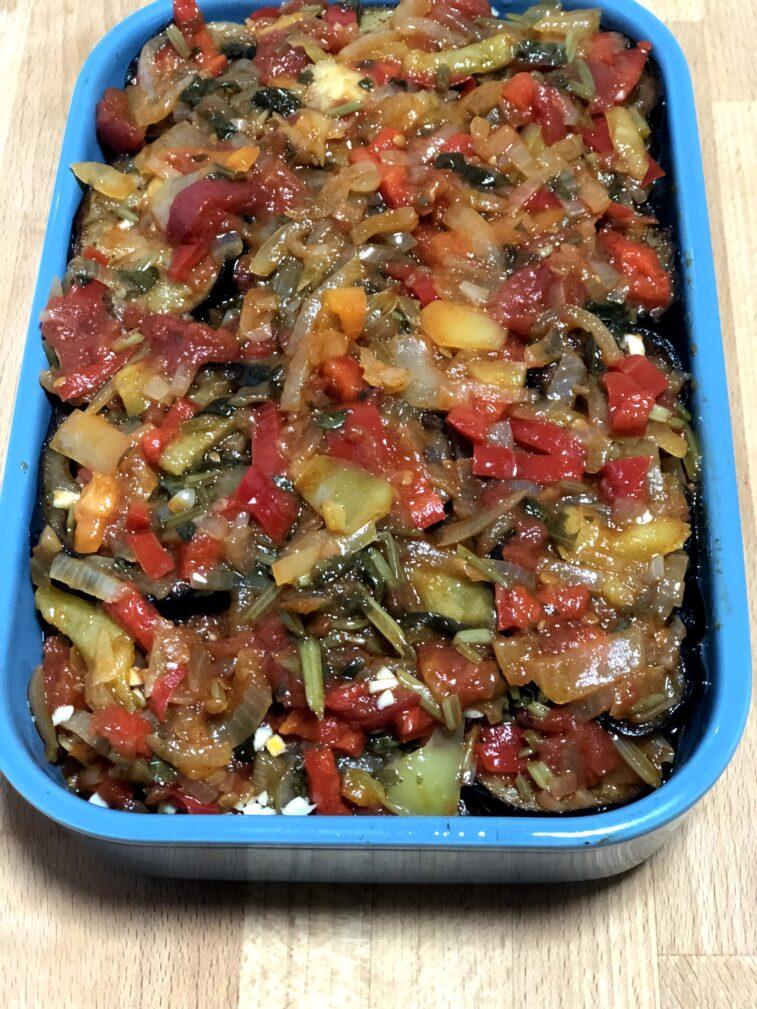Фото рецепта - Соте из баклажанов, перца и томатов - шаг 11