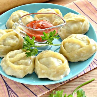 Манты с картошкой и мясным фаршем - рецепт с фото