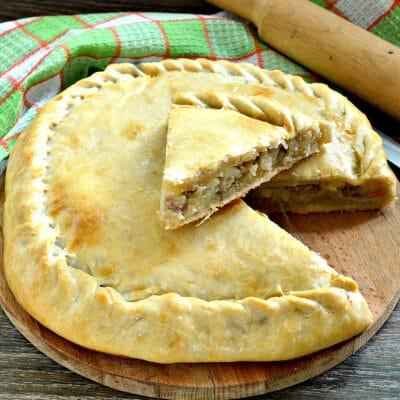 Пирог с картошкой и мясом - рецепт с фото
