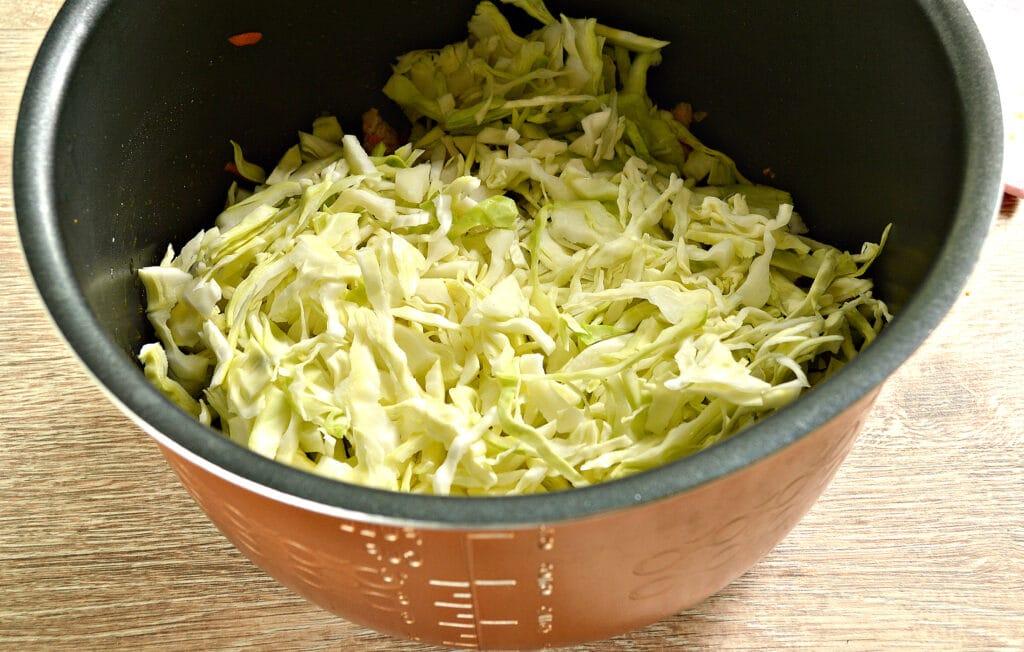 Фото рецепта - Свинина с капустой в мультиварке - шаг 3