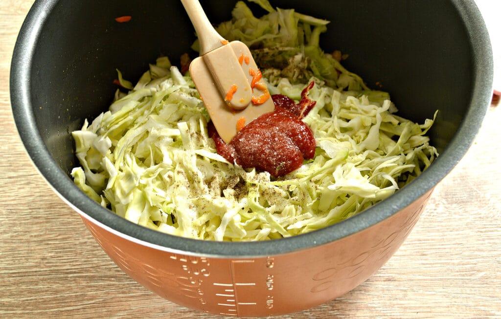 Фото рецепта - Свинина с капустой в мультиварке - шаг 4