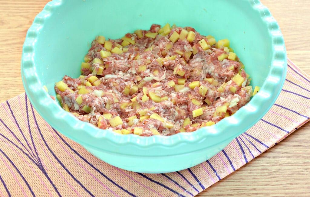 Фото рецепта - Манты с картошкой и мясным фаршем - шаг 4