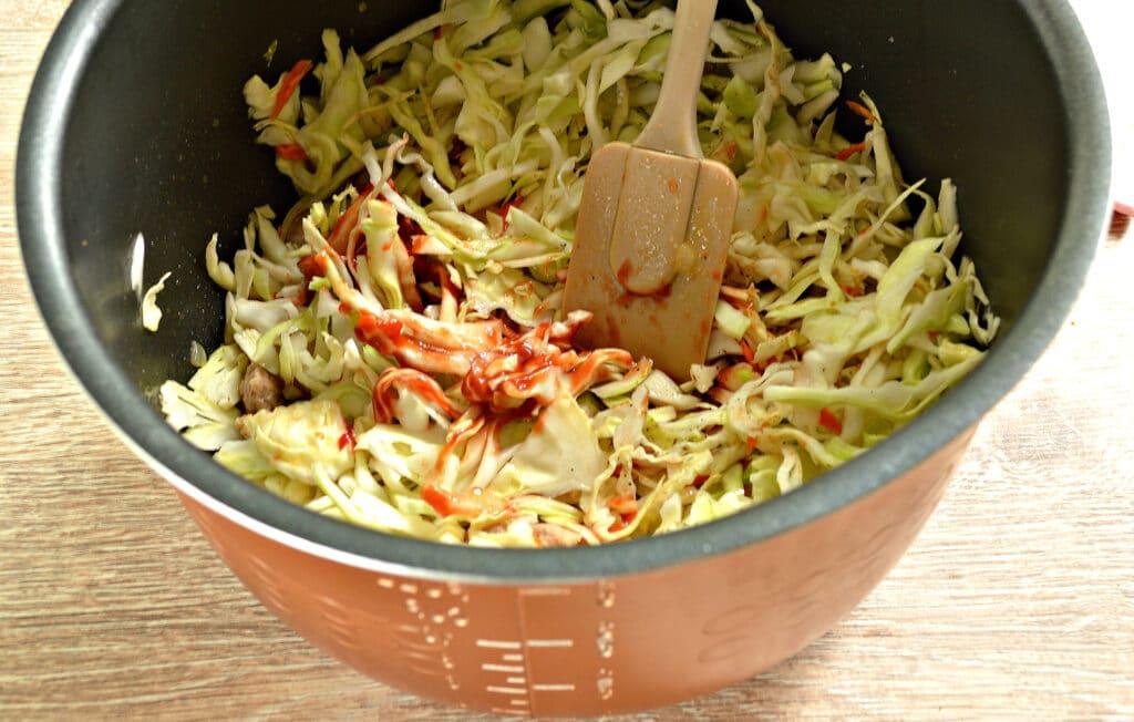 Фото рецепта - Свинина с капустой в мультиварке - шаг 5