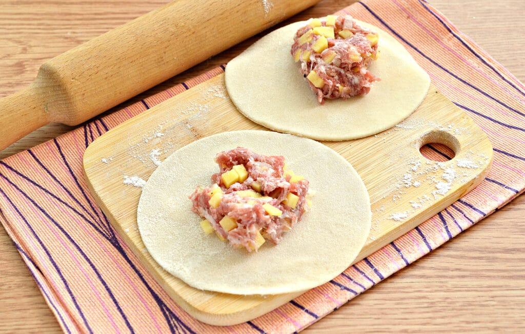 Фото рецепта - Манты с картошкой и мясным фаршем - шаг 5