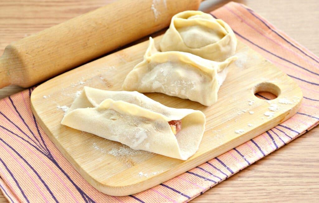 Фото рецепта - Манты с картошкой и мясным фаршем - шаг 6