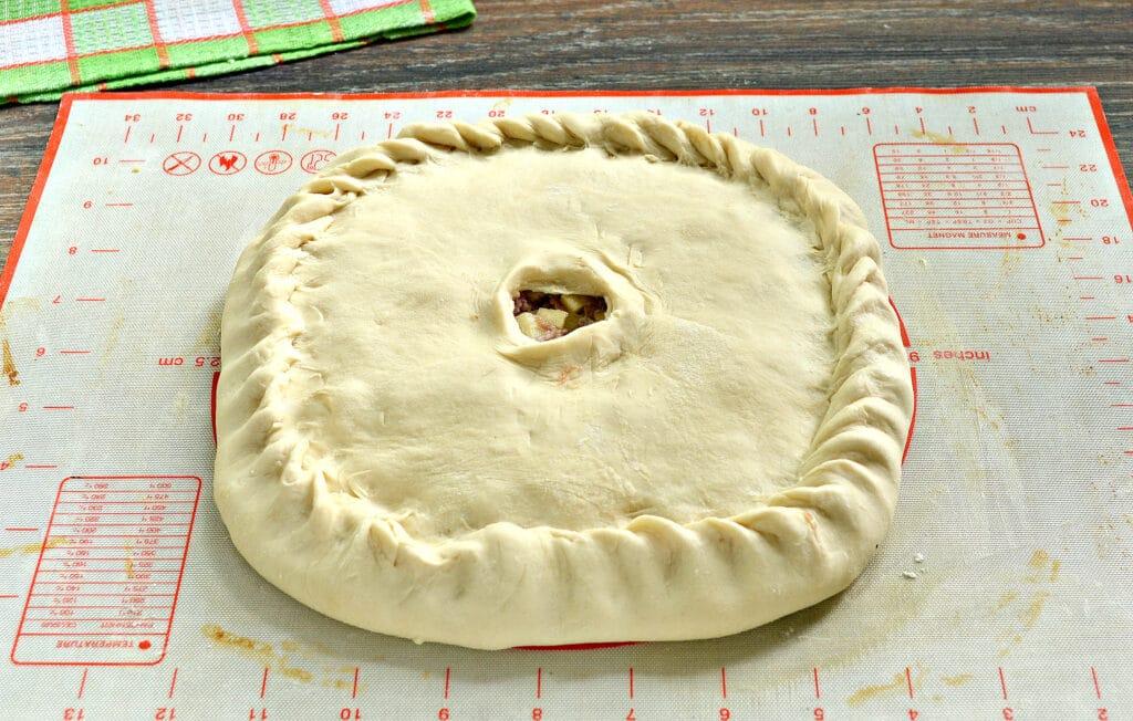Фото рецепта - Пирог с картошкой и мясом - шаг 6