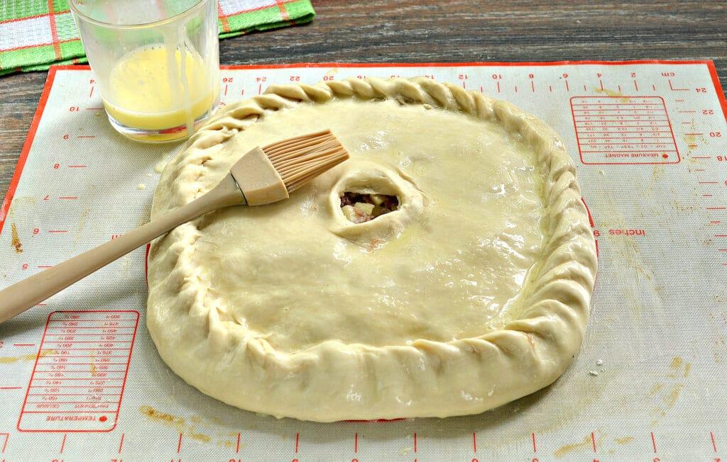 Фото рецепта - Пирог с картошкой и мясом - шаг 7