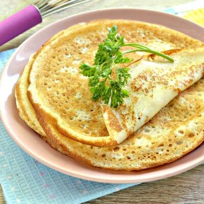 Тонкие блины на кефире - рецепт с фото