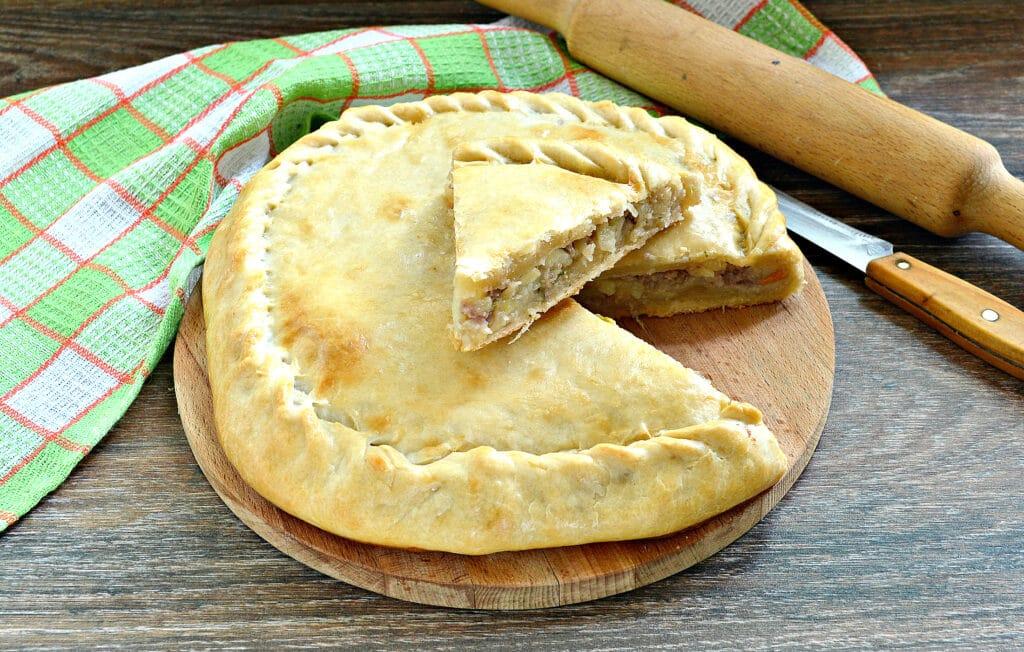 Фото рецепта - Пирог с картошкой и мясом - шаг 9
