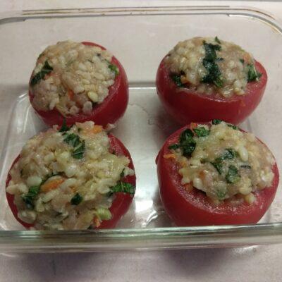 Фото рецепта - Помидоры, фаршированные булгуром и свининой с петрушкой - шаг 4