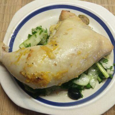 Фото рецепта - Куриная четверть в апельсиновом маринаде с горчицей, запеченная в рукаве - шаг 5