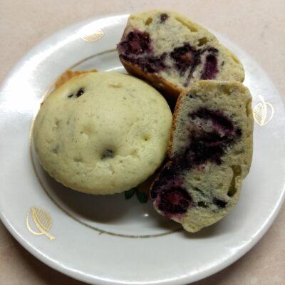 Кексы с ежевикой - рецепт с фото