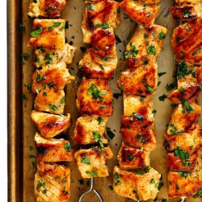 Куриный шашлык в духовке - рецепт с фото