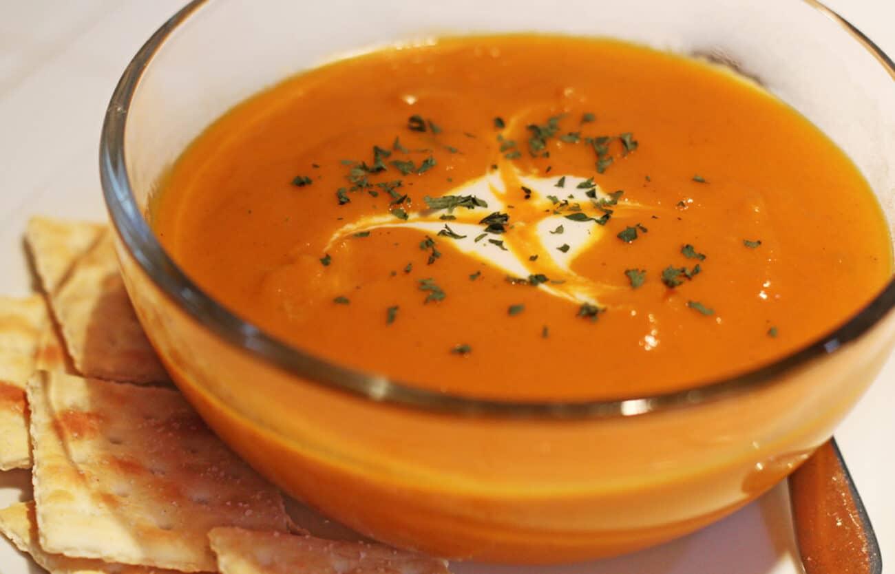 Постный морковный суп с карри