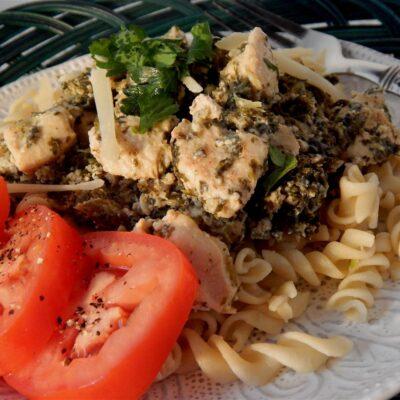 Тушеная курица и капуста сливках с сыром - рецепт с фото