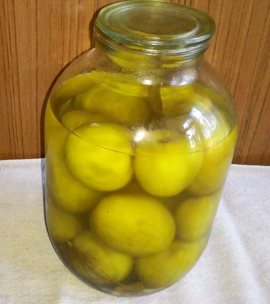 Фото рецепта - Маринованные зеленые помидоры на зиму - шаг 6