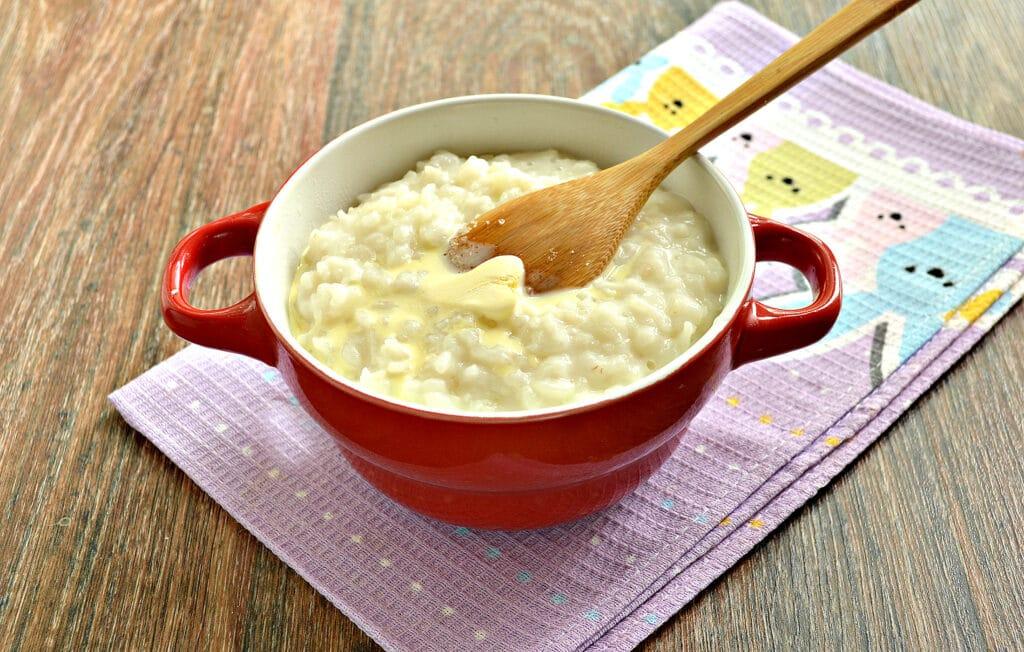 Фото рецепта - Рисовая каша на молоке в мультиварке - шаг 5