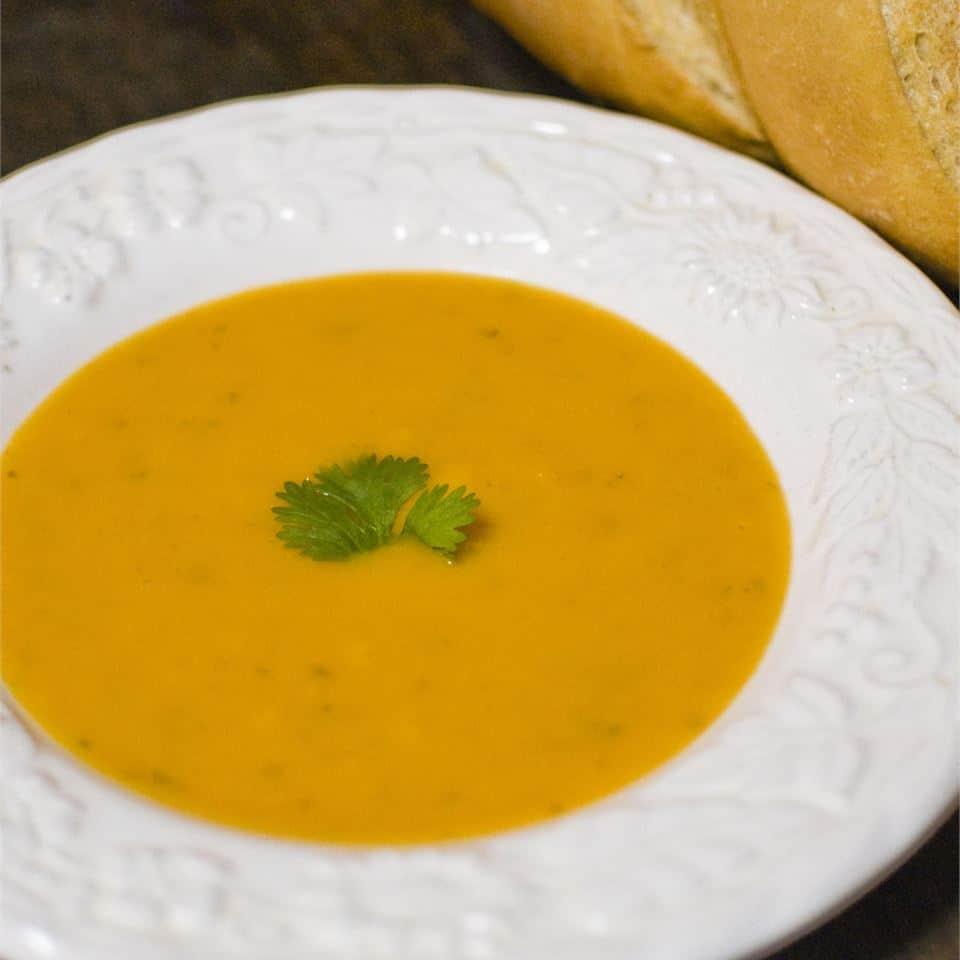 Суп из тыквы с мускатным орехом