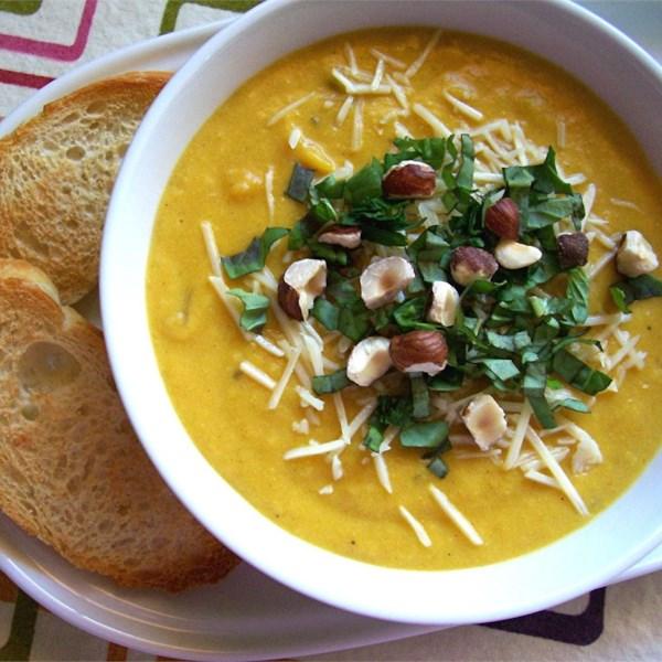 Крем-суп из кабачков, тыквы и картофеля
