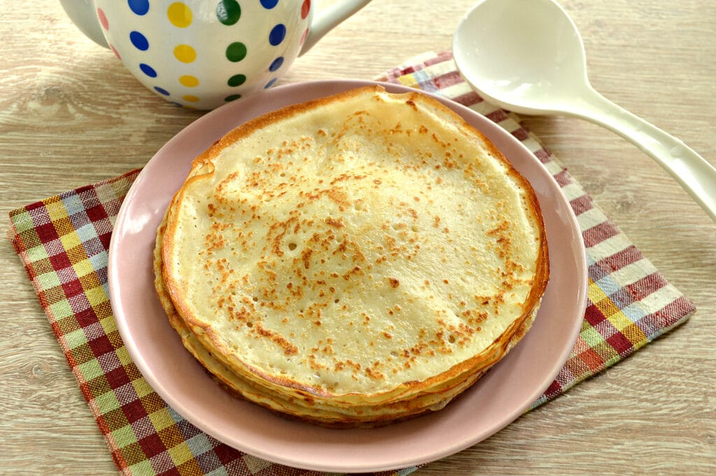 Фото рецепта - Блинное тесто на кипятке - шаг 7