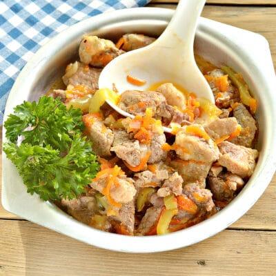 Подлива из свинины с овощами в мультиварке - рецепт с фото