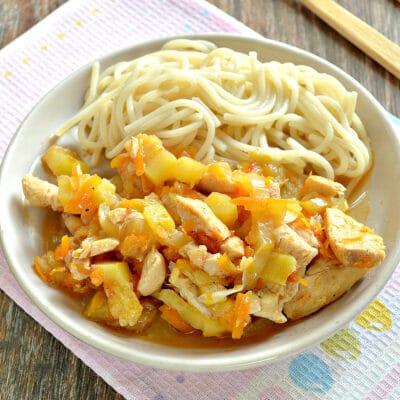 Овощное рагу с курицей и кабачками в мультиварке - рецепт с фото