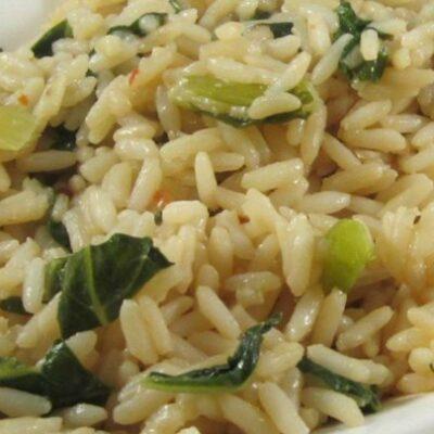 Рис, тушеный с капустой - рецепт с фото