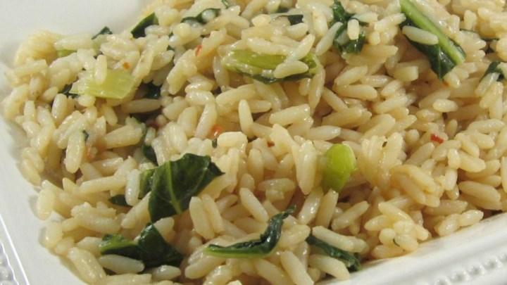 Рис, тушеный с капустой