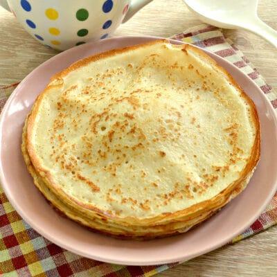 Блинное тесто на кипятке - рецепт с фото