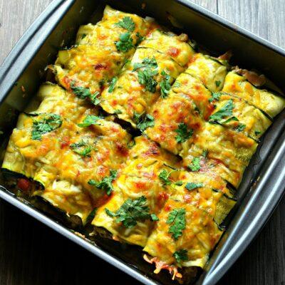 Рулетики из кабачков с сыром и курицей - рецепт с фото