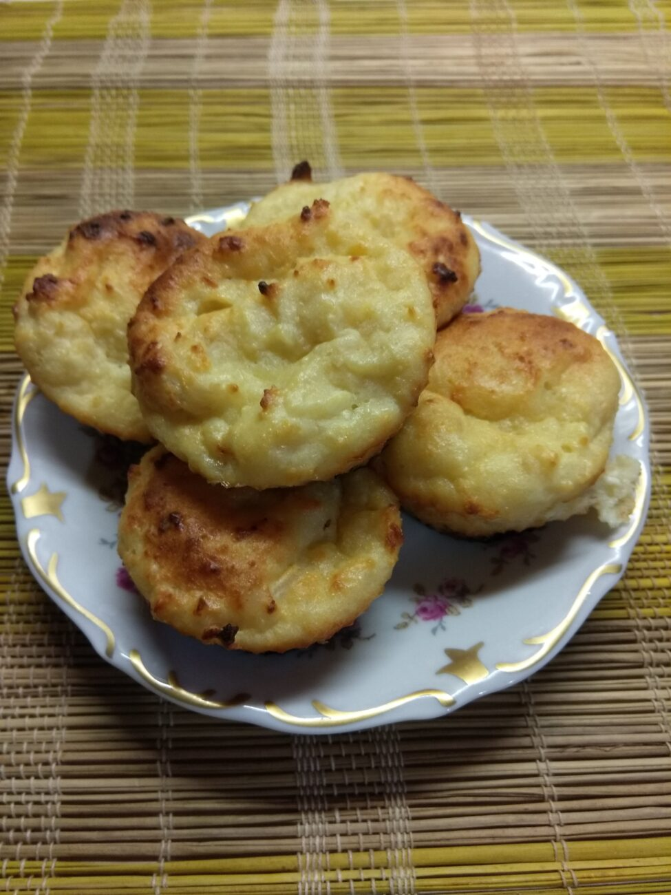 Творожные кексы с мякотью кокоса