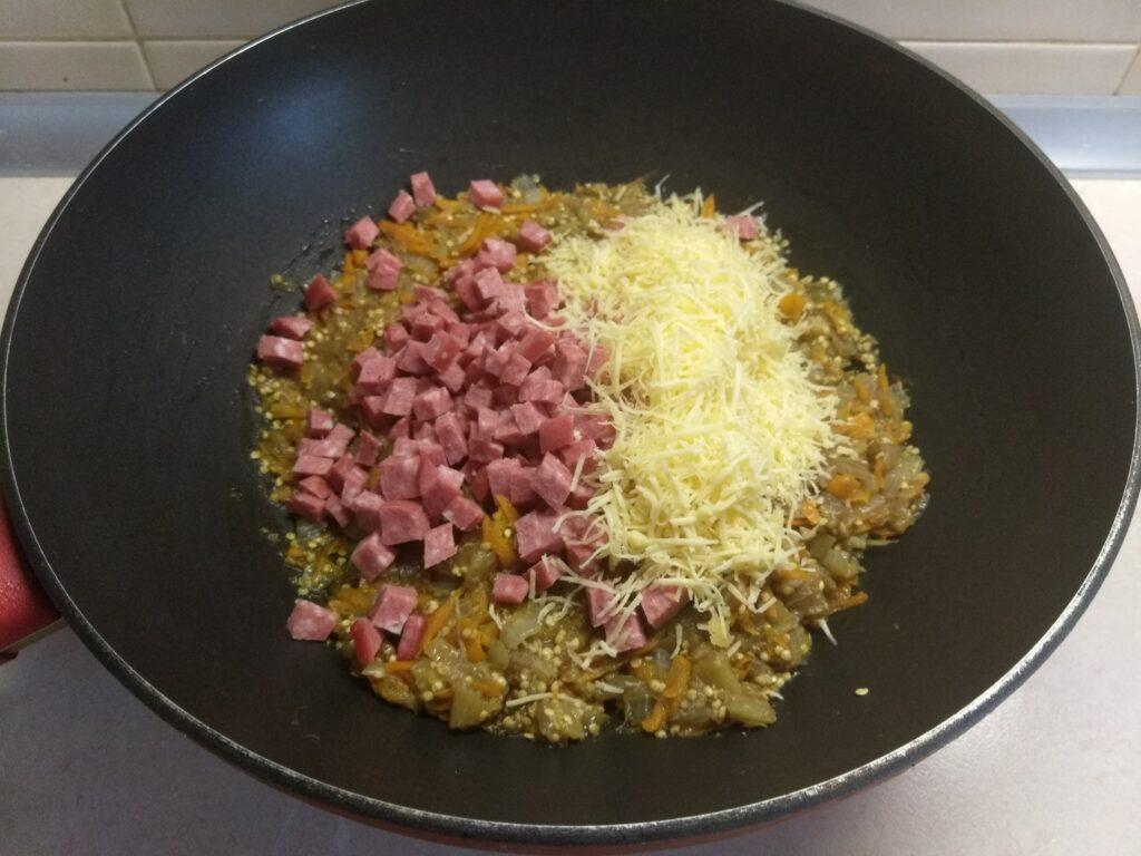 Фото рецепта - Баклажаны, фаршированные салями и сыром - шаг 6