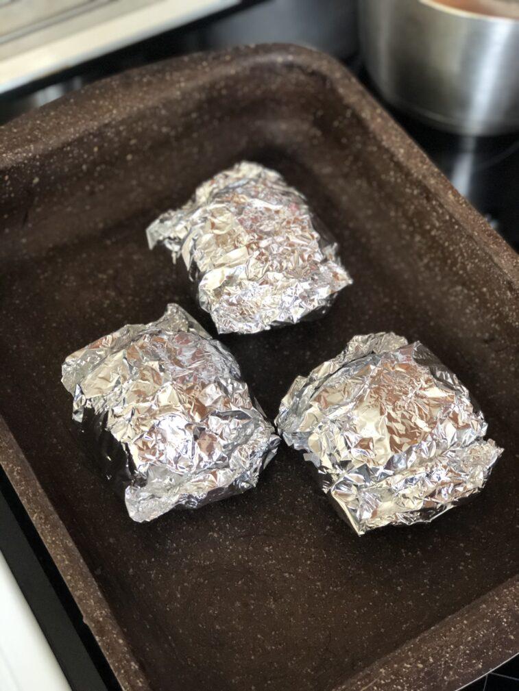 Фото рецепта - Яичница в булочке (запеченная) - шаг 9
