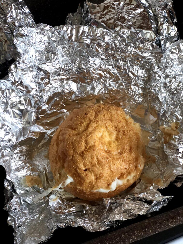 Фото рецепта - Яичница в булочке (запеченная) - шаг 10