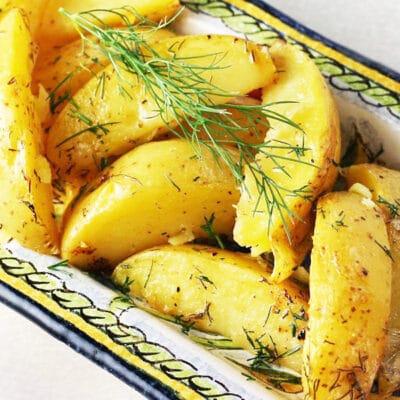 Жареный картофель с лимоном по-гречески - рецепт с фото