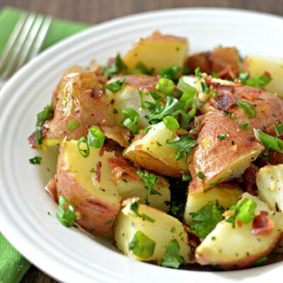 Картофельный салат (запеченный) - рецепт с фото