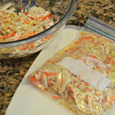 Маринованная капуста (заморозка) - рецепт с фото