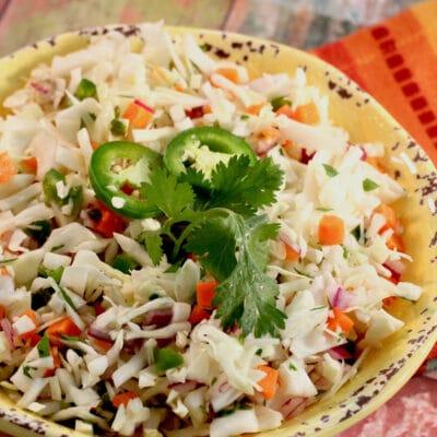 Салат из капусты с перцем и лаймом - рецепт с фото