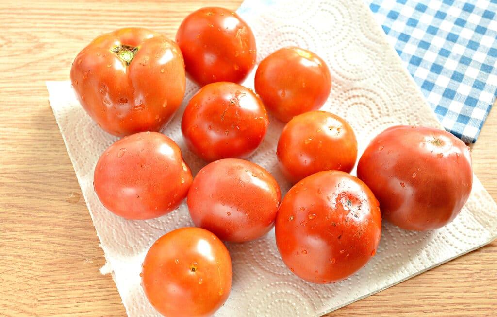 Фото рецепта - Замороженные помидоры на зиму - шаг 1