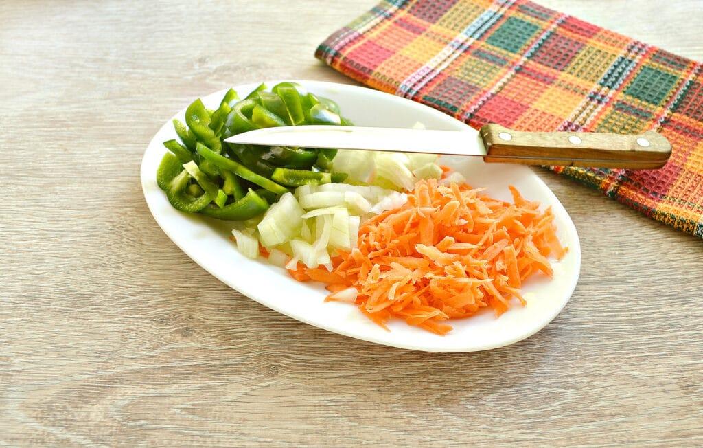 Фото рецепта - Свинина с картофелем, перцем и помидорами в мультиварке - шаг 1