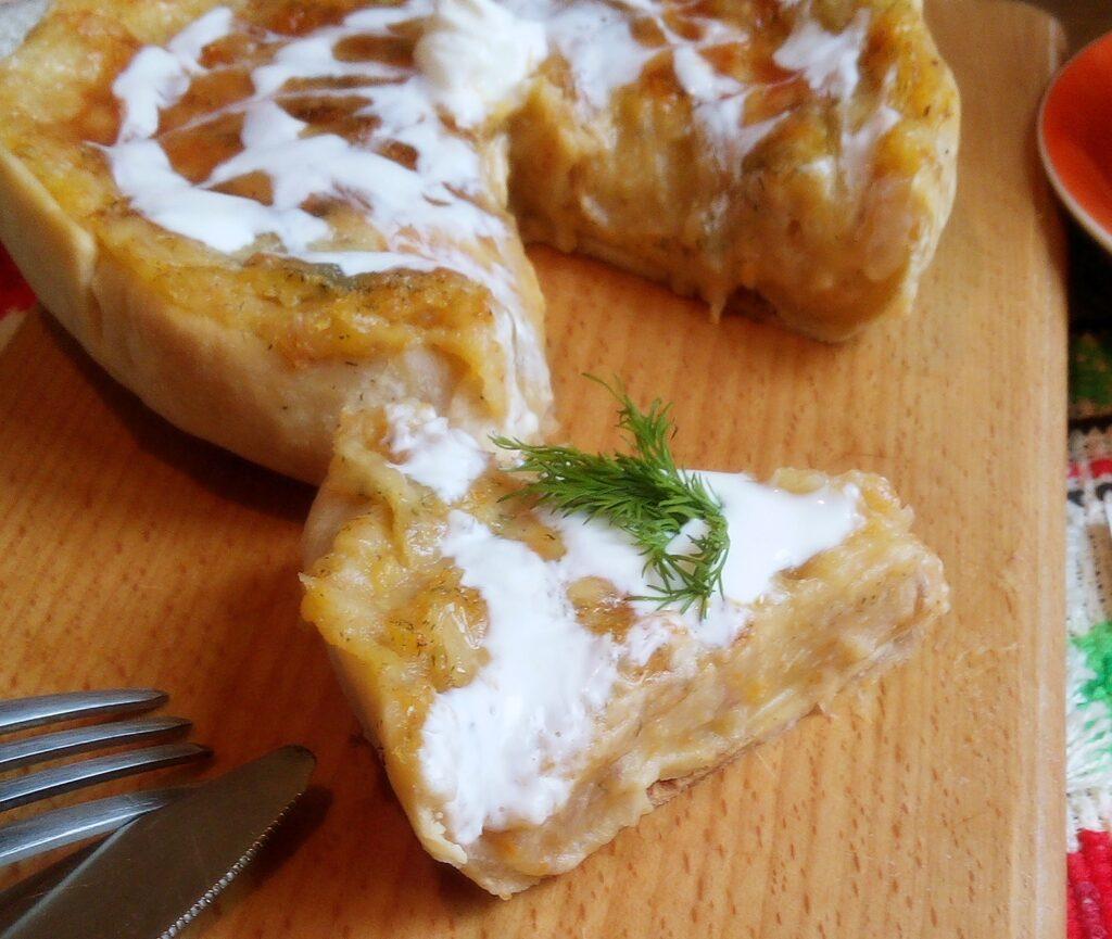 Фото рецепта - Киш с кроликом и сыром - шаг 10