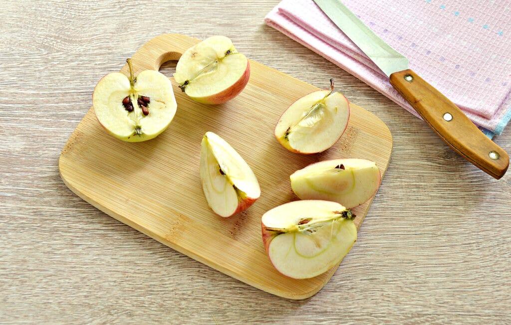 Фото рецепта - Замороженные яблоки на зиму для компота и пирогов - шаг 2