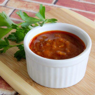 Острый чесночный соус - рецепт с фото