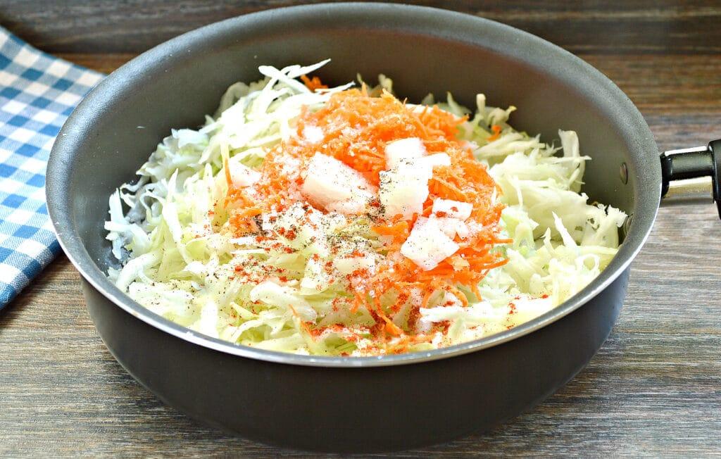 Фото рецепта - Чебуреки с капустой - шаг 2