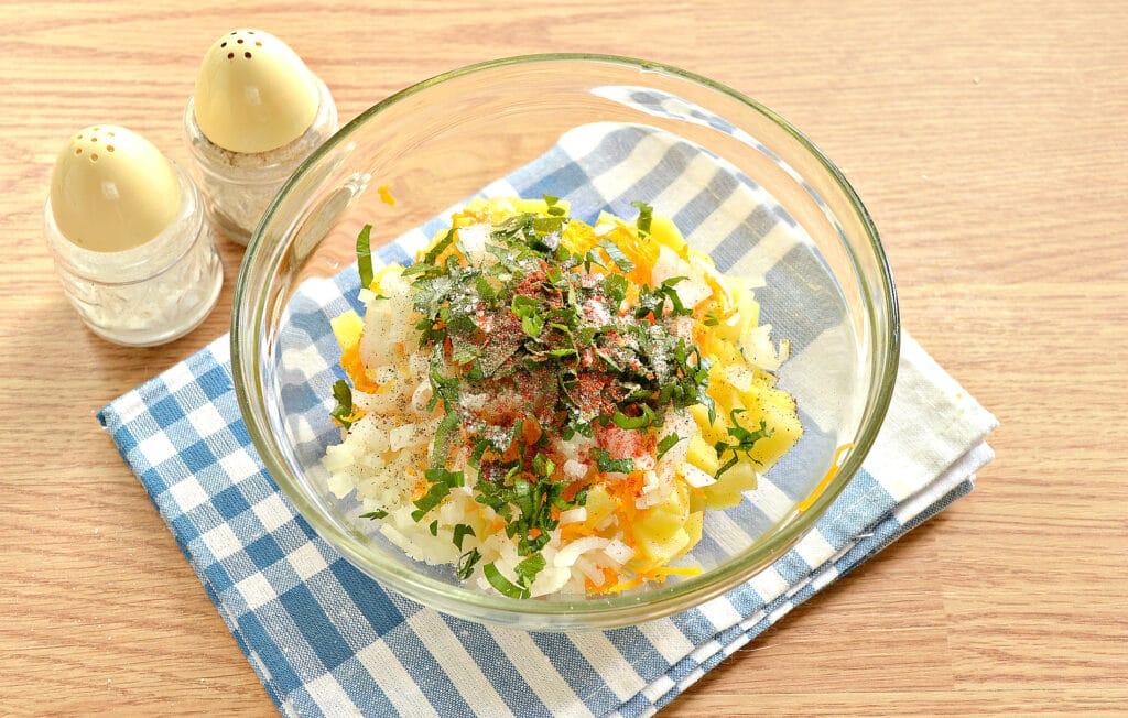 Фото рецепта - Начинка для мантов с картофелем и тыквой - шаг 5