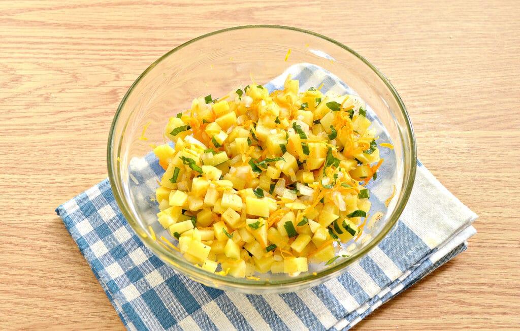Фото рецепта - Начинка для мантов с картофелем и тыквой - шаг 6