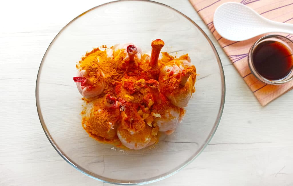 Фото рецепта - Куриные ножки в духовке - шаг 6